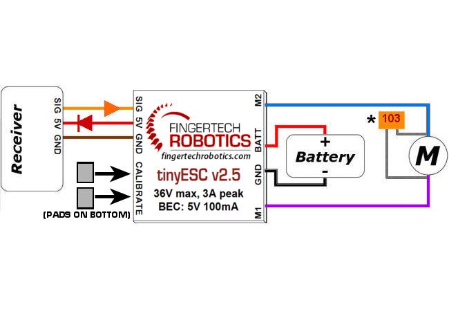 FingerTech Robotics - Electronics - FingerTech tinyESC v2